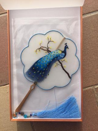 Abanico chino de hilo hecho a mano