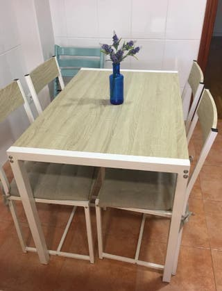 Mesa cocina con 4 sillas