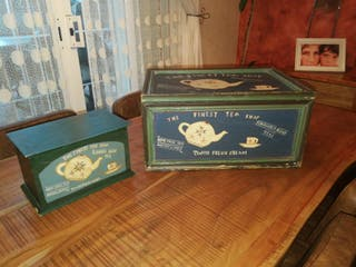 Cajas Baules Madera Pintada Vintage