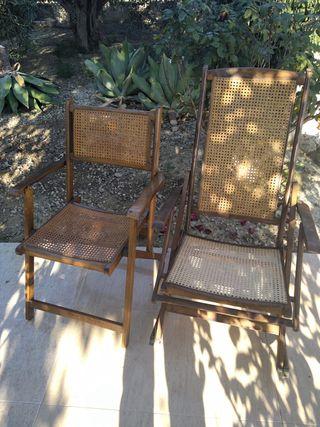 Mecedora y silla