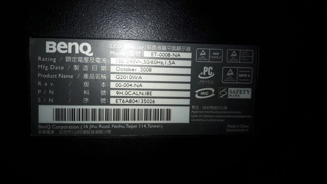 "Monitor Benq 20"""