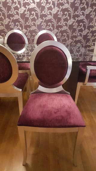 sillas de pan de plata