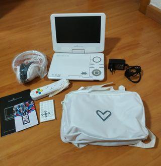 Reproductor portatil DVD,CD,mp3 y 4,+80 juegos