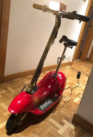 Mini moto eléctrica Coca-Cola original colección