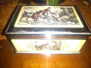 antigua caja joyero musical