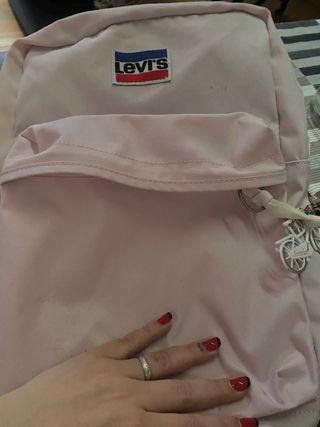 Mochila rosa claro levis