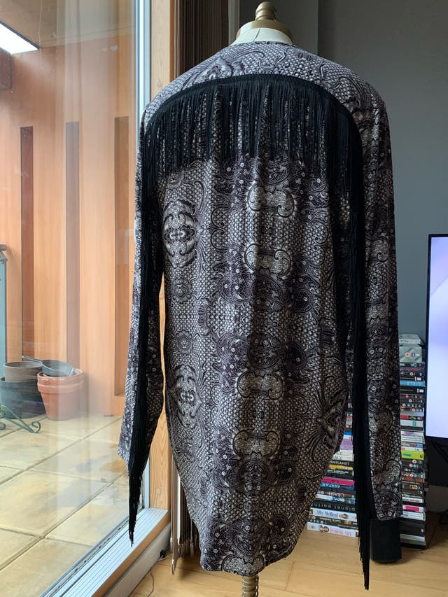 ASOS DESIGN regular paisley fringed shirt