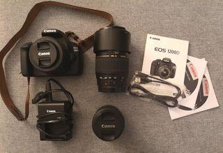 Vendo Canon EOS 1200D + 3 objetivos.