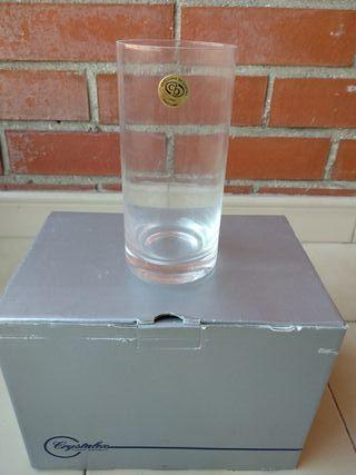 6 vasos cristal Bohemia