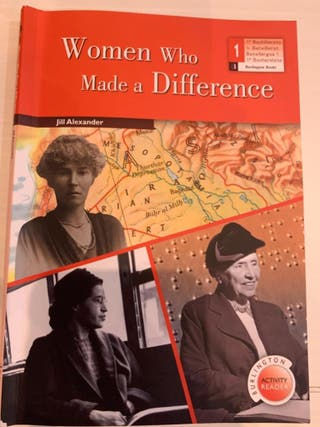 "Libro de lectura ""Women who made a difference"""