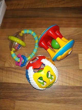 Lote juguetes sonajeros bebé