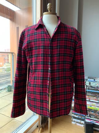 ZARA MAN checked shirt in red