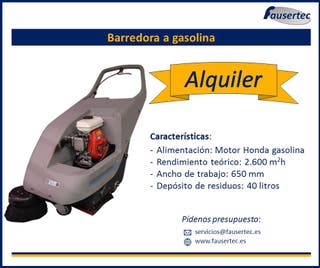 Alquiler barredora gasolina