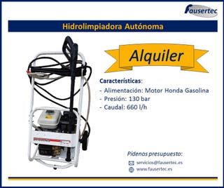 Alquiler hidrolimpiadora autónoma