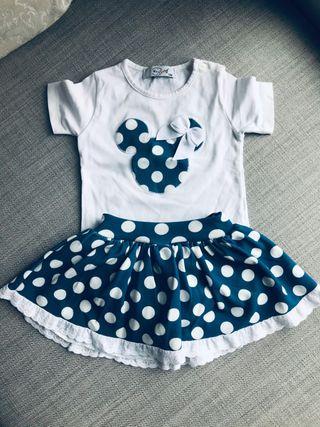 Vestido Ranita Falda Lote Mini Mousse Disney bebe