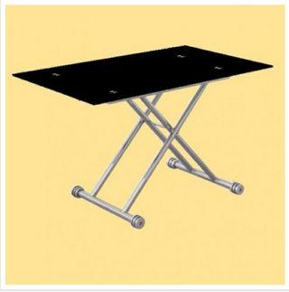 mesa de comedor de cristal hidráulica
