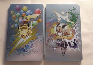 RARO Steelbook Pokemon Let's Go Eevee Pikachu