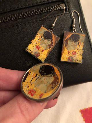 Conjunto joyas Beso de Klimt