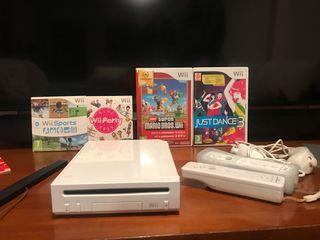 Consola wii, mandos y juegos