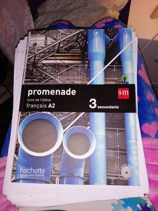 Libro de francés promenade 3°ESO