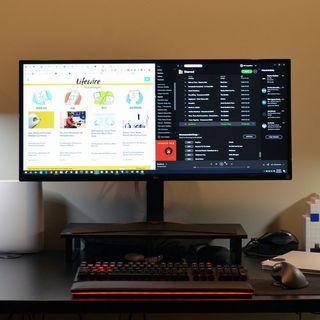 Monitor LG Ultra panorámico. 34UM69G-B