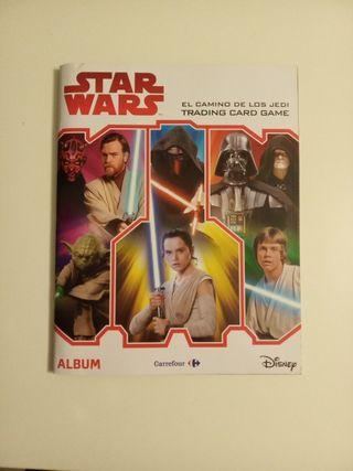 Álbum cromos Star wars carrefour