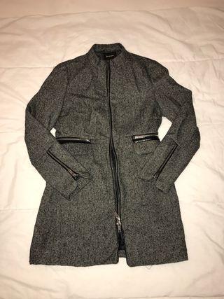 Abrigo mujer gris talla M