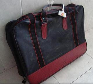 Bolsa de viaje - maleta ROJA Y NEGRA