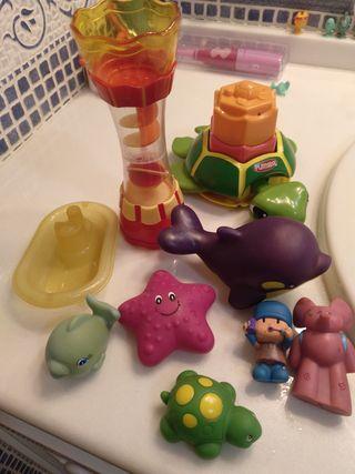 Lote juguetes baño