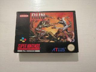 Run Saber Super Nintendo snes