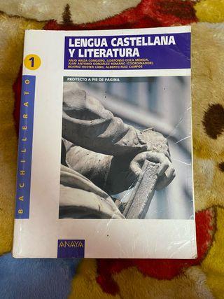 Libro de Lengua Castellana 1 bachillerato