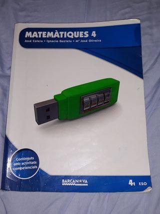 libro barcanova matemáticas 4 eso