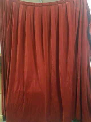 Cortinas terciopelo rojo