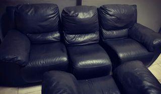 Sofa relax piel negro