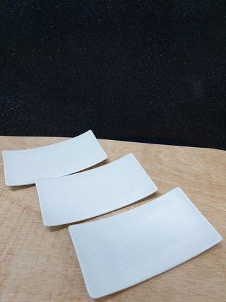 Plato rectangular para Sushi, entrantes y postres