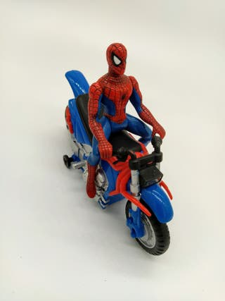 Spiderman moto muñeco