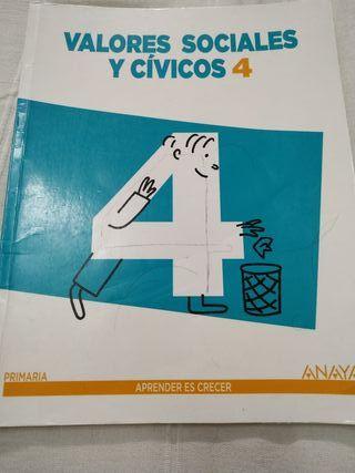 libro valores 4 primaria Anaya