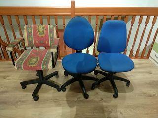 3 sillas de escritorio