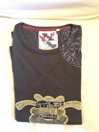 Camiseta manga larga color marron Kukuxumusu