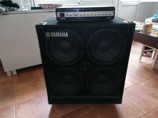 Amplificador bajo Yamaha ( pantalla + cabezal)