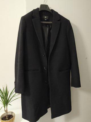 Abrigo nuevo negro invierno hombre H&M talla L 40