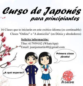 Imparto clases de Japonés Básico