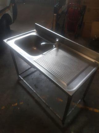 fregadero pila escurridor acero bar