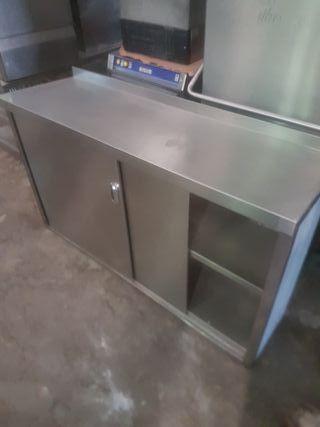 mesa banco acero puertas