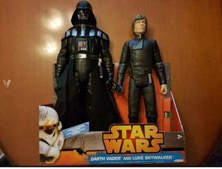 Figuras Star Wars Luke Skywalker y Darth Vader