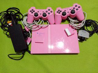 PS2 Pink Edición Limitada + Juegos