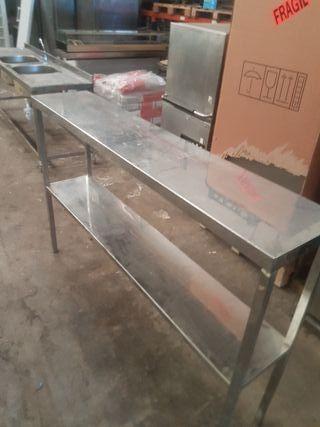 mesa alta acero banco estantes