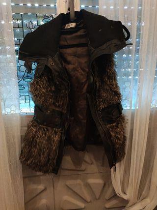 abrigo sin mangas pelitos