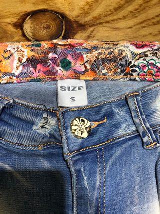 Talla 32-34 pantalón vaquero mujer