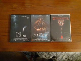 3 películas DVD terror